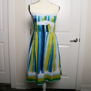 Strapless, Watercolor Calvin Klein Dress